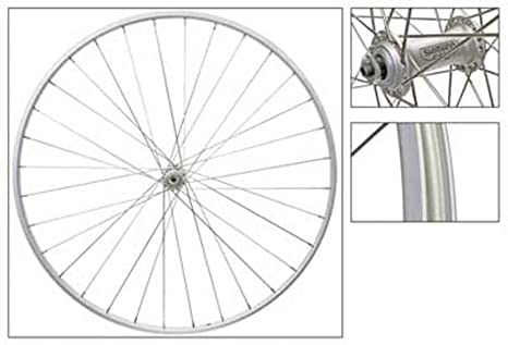 """WHEEL MASTER  24/"""" x 1.75/""""  ALLOY SILVER BICYCLE FRONT WHEEL"""