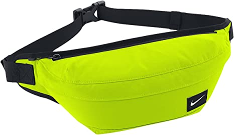 NIKE Small Items Waist Packs Hood Waist Pack Volt/Black/(White) Talla:MISC: Amazon.es: Deportes y aire libre