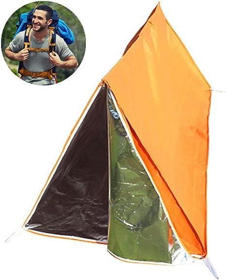 VORCOOL Tienda de campaña de Emergencia al Aire Libre Tienda de campaña Tienda de campaña de Supervivencia Termal Bolsa de Dormir para Acampar Senderismo Supervivencia (Naranja): Amazon.es: Deportes y aire libre