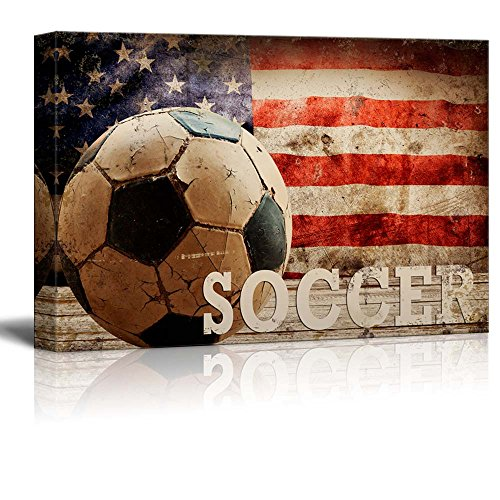Soccer Americana Patriotic Futbol Sport Grunge Flag