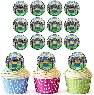 PRECUT Leeds Rhinos Rugby Shirts Edible Cupcake Toppers Boys Men Birthday