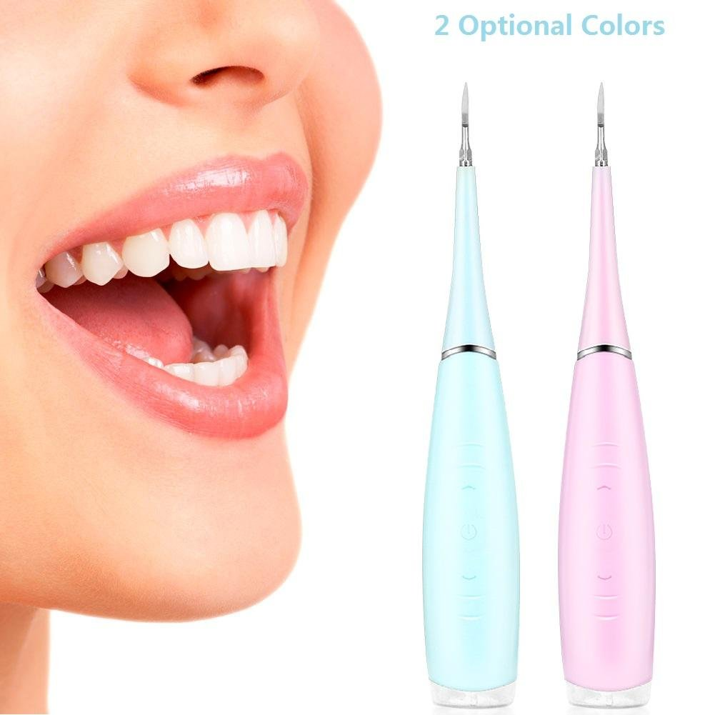 Calculus Removal Tool, Portable Electric Oral Irrigator Teeth Cleaning Dental Irrigation Calculus Removal Tartar Clean(Pink) by ZJchao (Image #9)