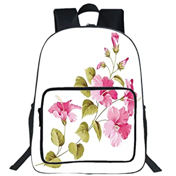 Amazoncom Iprint 19 Large Casual Backpackflower House Decor
