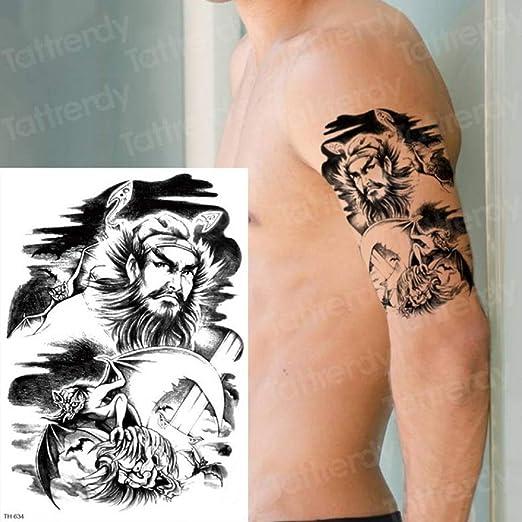3 Piezas Tatuajes temporales de Larga duración Animales Cabeza de ...