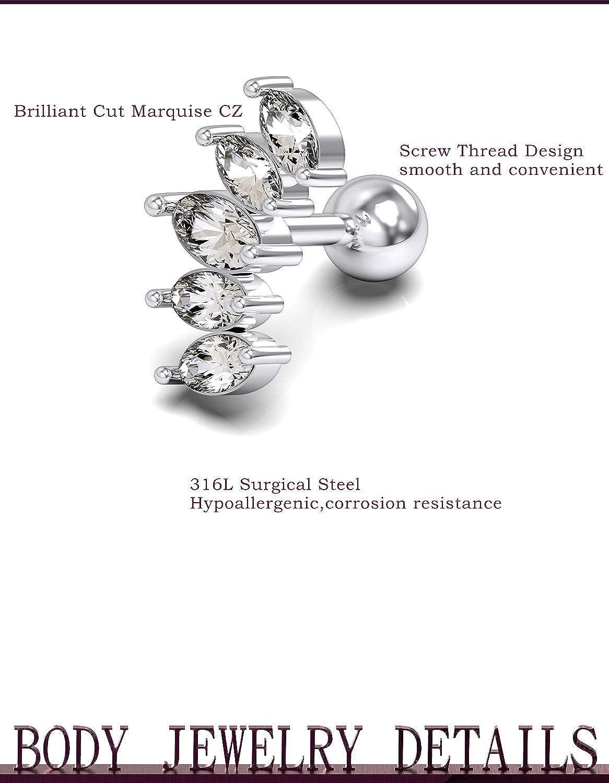 Jenxnjsjo Cartilage Helix Tragus Conch Piercing Jewelry