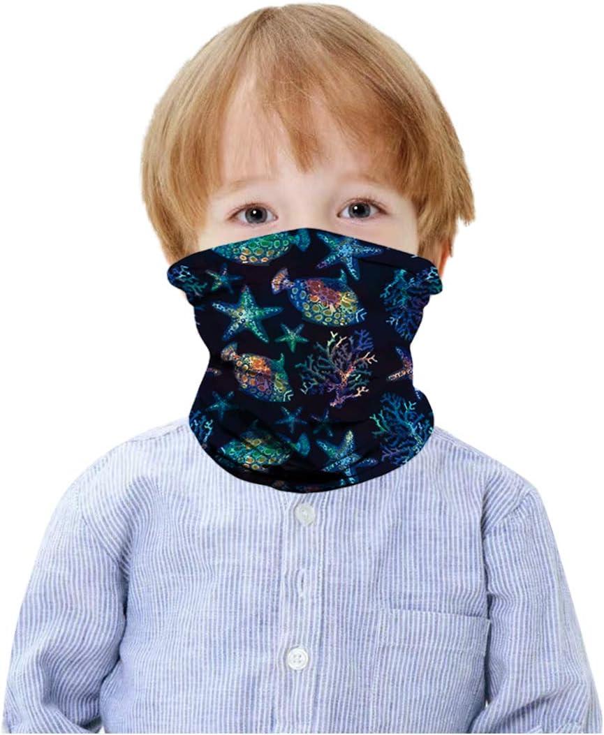 HAO HONG 1 PC Summer Cooling Kids Face Scarf Mask-Dust Bandana Neck Gaiter Multifunction Headband Boy Girl Balaclava Outdoors Dustproof Lightweight