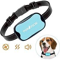 POP VIEW Bark Collar [New Version] Humanely Stops Barking with Sound and Vibration. NO Shock, Harmless and Humane. Small Dog Bark Collar, Medium Dog Bark Collar