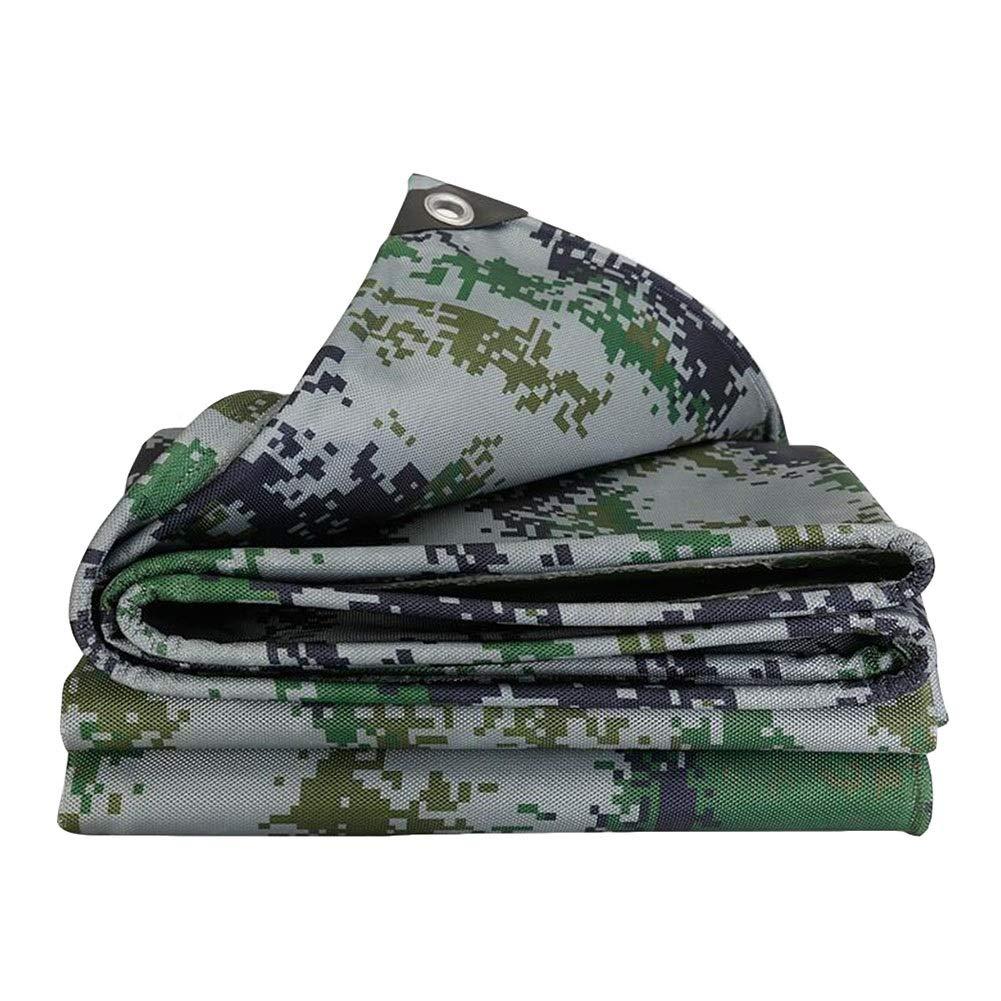 DALL ターポリン ヘビーデューティ 防水タープ 厚手の耐摩耗性 防雨 高密度 日焼け止め布 500g / M 2 (Color : 緑, Size : 4.5×8m) 緑 4.5×8m