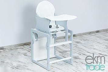 Baby Hochstuhl Mit Tisch.Grau Weiß Kinderhochstuhl 2 In 1 Kombi Baby Hochstuhl