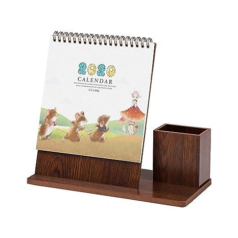 Amazon.com: Olpchee 2019-2020 Calendario de escritorio, con ...