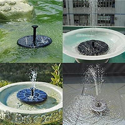 Solar Power Fountain,Alisabler Solar Panel Water Floating Fountain Pump Kit for Bird Bath Fish Tank Small Pond Garden Decoration