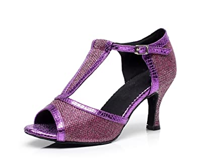 Qj7026 T Paillettes Strap de Danse Chaussures de de Piste MINITOO PRZd6qd