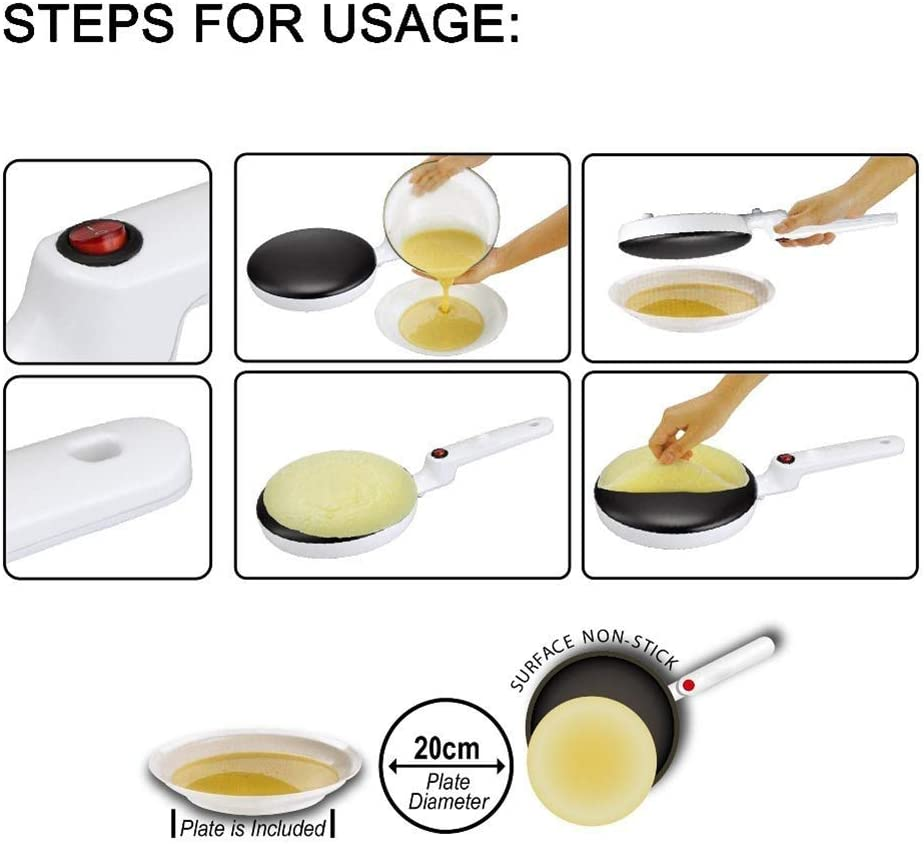 B07RRN8P3P DUDDP Kitchen Crepe pan Electric Pancake Maker Machine Electric Non-Stick Cooker Baking Tool with Accessories for Easy Pancake Crepe Housewife\'s Good Helper,20cm 51gOX9q6MiL
