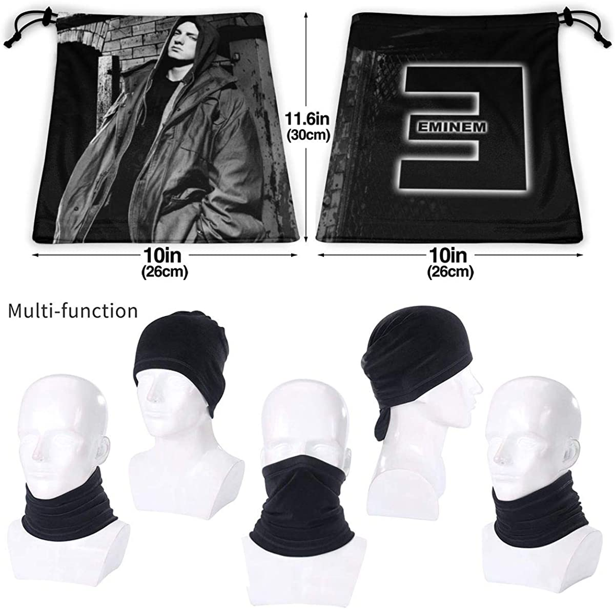 Eminem Highly Elastic Warm Microfiber Neck Thermal Mask Scarf Unisex Windproof Suitable For Winter