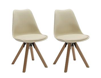 Duhome Elegant Lifestyle Stuhle 2er Set In Creme Esszimmer Stuhl Kuchenstuhl Mit Holzbeine Stabil Und Schick 447