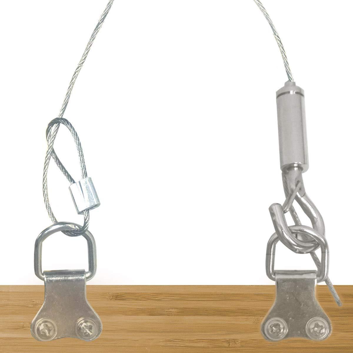 2 St/ück h/ält bis zu 30 kg robust Edelstahl mit Quetschrohr Draht zum Aufh/ängen von Bildern