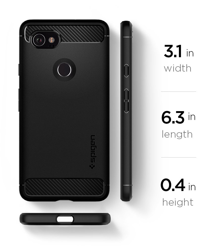 Spigen Rugged Armor Google Pixel 2 XL Case with Resilient Shock Absorption and Carbon Fiber Design for Google Pixel 2 XL (2017) - Black by Spigen (Image #10)