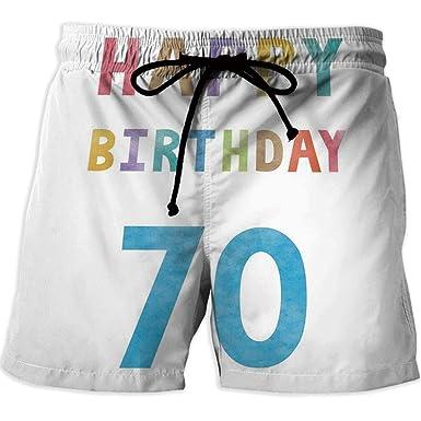 Amazon Com Moocom Printed Quick Drying Swimming 70th Birthday