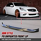 #2: EpandaHouse For 09-13 G37 Sedan 4DR Unpainted Black JDM Style PU Front Bumper Lip Spoiler Wing Body Kit Racing