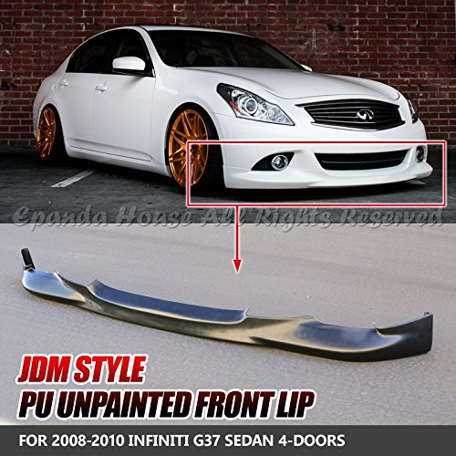 EpandaHouse For 09-13 G37 Sedan 4DR Unpainted Black JDM Style PU Front Bumper Lip Spoiler Wing Body Kit Racing