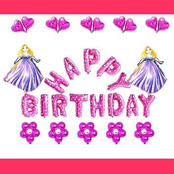Non-branded (30 unids / Lote) Rapunzel Globos de cumpleaños ...