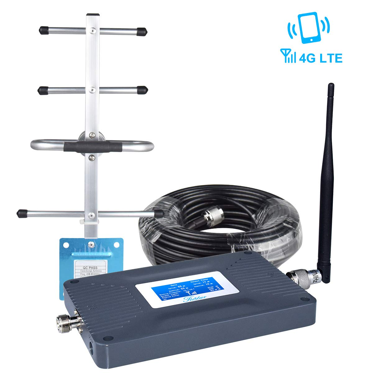 AT&T Cell Phone Signal Booster for Home, AT&T Signal Booster Connect 4G LTE 700mhz Band 12/17,LCD Screen Amplifier AT&T Cricket U.S. Cellular T-Mobile Cell Booster, Enhance Data Call,65±3dB 2000sq.ft