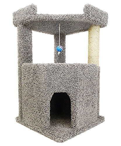 New Cat Condos Premier Corner Roost Cat Tree, Gray (Store Trees And Hours Trends)