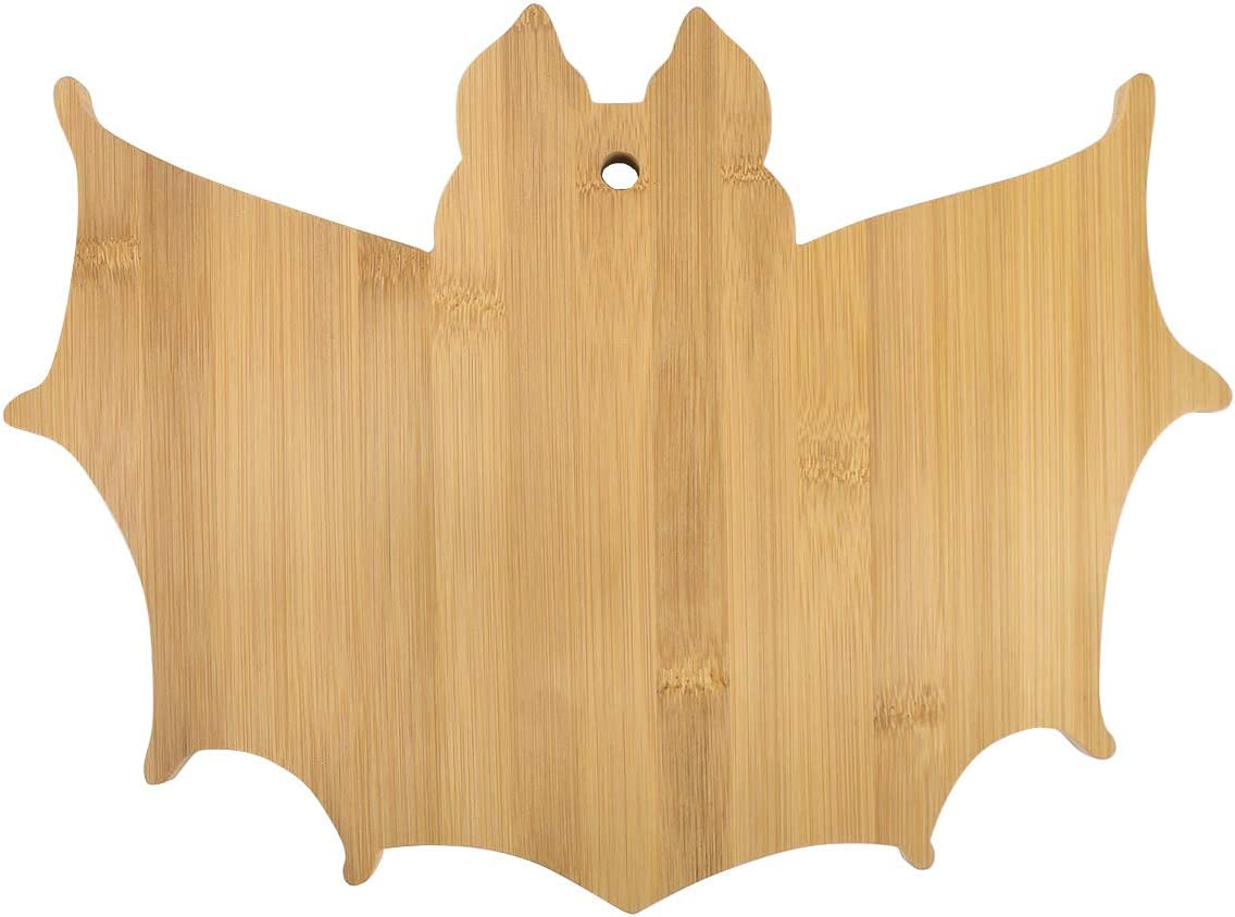 Vencer The Nightmare Before X-MAS Bat Bamboo Serving & Cutting Board,Christmas Gift and Home Decoration,15-11 Inch