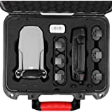Surmik Waterproof Hard Case for DJI Mavic Mini/Fly More Combo, Professional Grade Carrying Case Made of PP Plastic Alloy, with Military Grade Super Protection