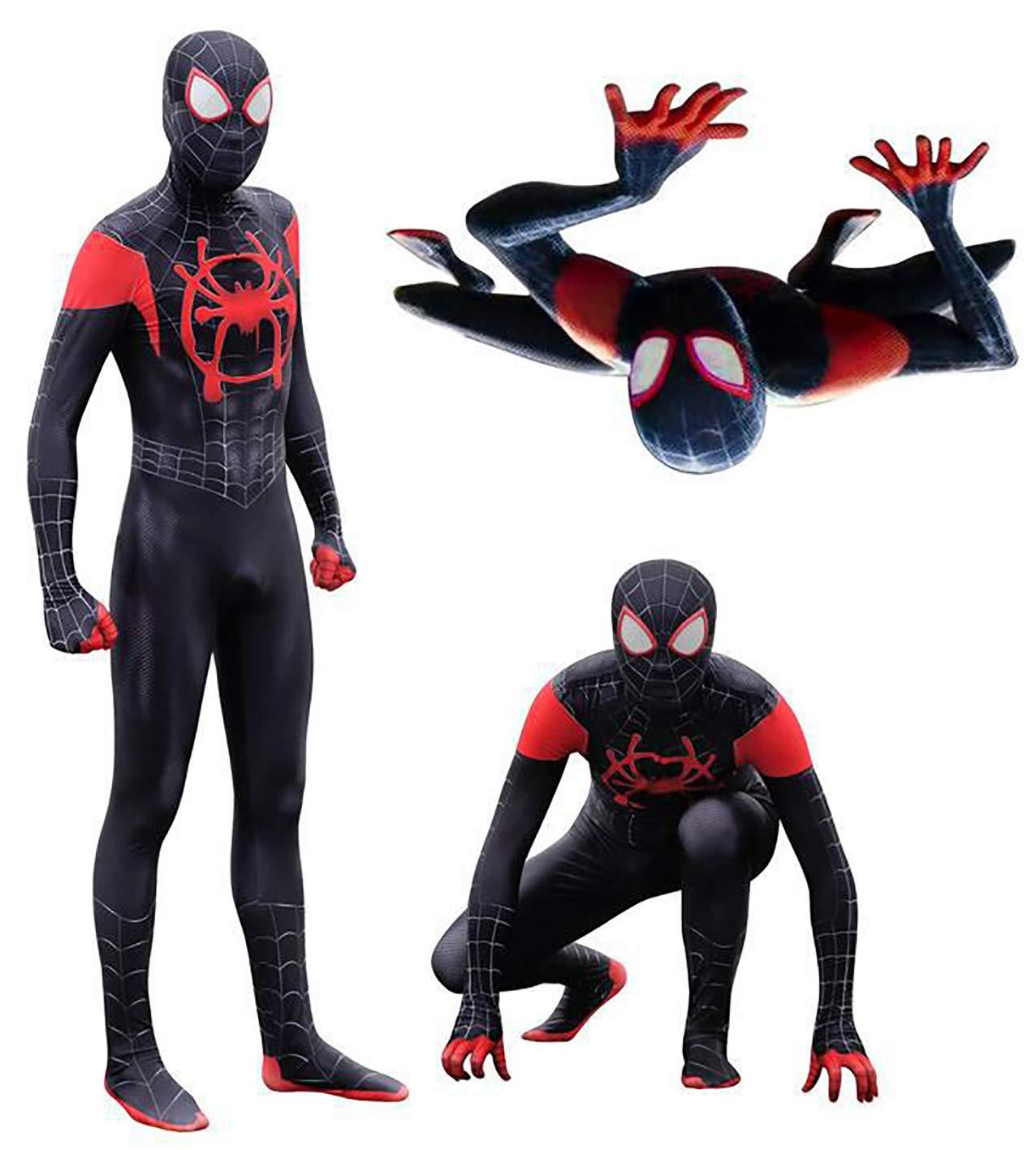 - 61EWoeXnzOL - DANNEL Unisex Halloween Costume Miles Morales Cosplay Bodysuit