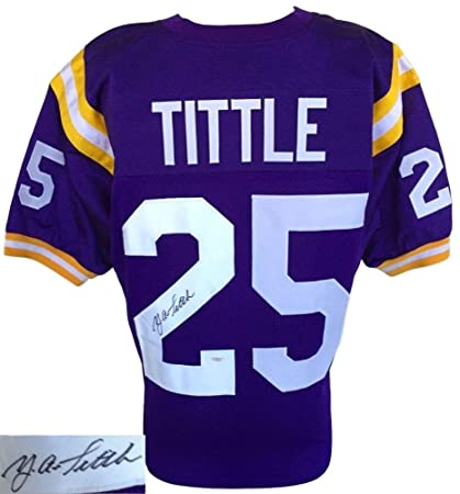 competitive price 718f4 b68f9 Y. A. Tittle Autographed Signed Lsu Tigers Jersey - JSA ...