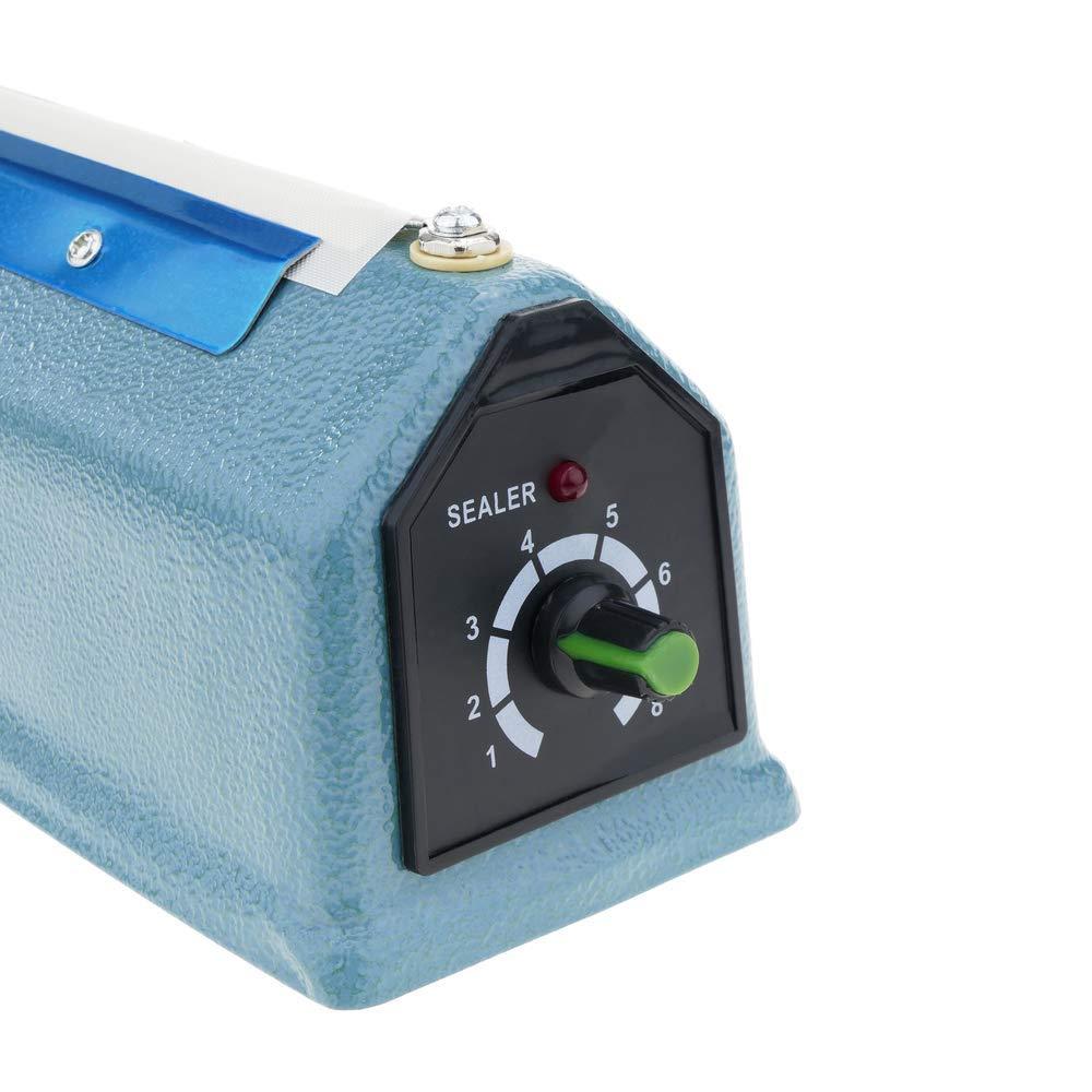 Cablematic - Selladora térmica metálica de 40cm para bolsas de plástico