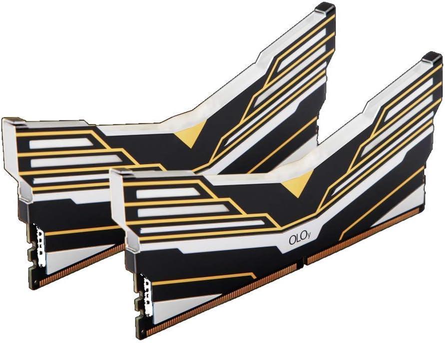 OLOy DDR4 RAM 32GB (2x16GB) Warhawk Aura Sync RGB 3000 MHz CL16 1.35V 288-Pin Desktop Gaming UDIMM (MD4U163016BEDA)