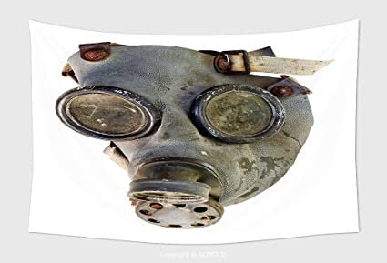 Amazon com: Home Decor Tapestry Wall Hanging Old Gas Mask