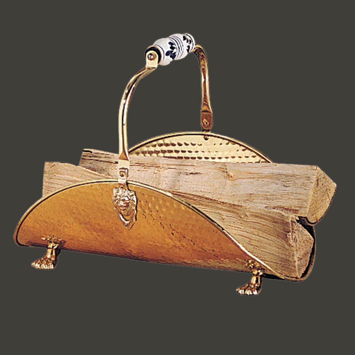 amazoncom decorative brass fireplace log holder vintage design home u0026 kitchen - Fireplace Log Holder