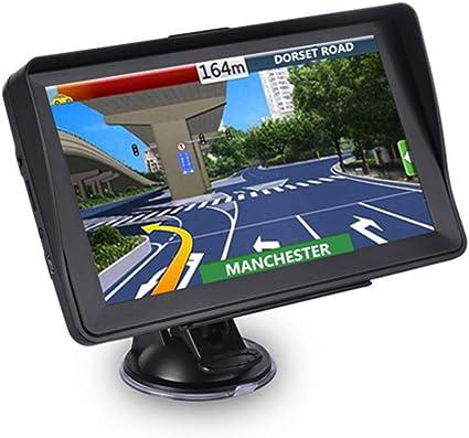 Aonerex - Navigatore satellitare GPS con parasole per auto, 5