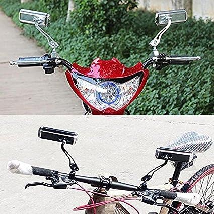 Twshiny 1 Paire Aluminium Montagne Moteur V/élo Scooter r/étroviseur Retour Wing Mirror