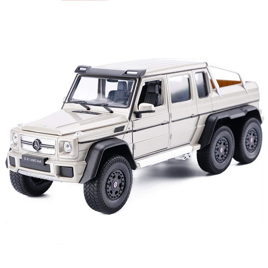 venta al por mayor barato LICCC Escala 1 24 Modelo de de de vehículo Todoterreno Mercedes-Benz Grande Fundido a Troquel G63 6  6 AMG - Simulación de aleación Modelo de Juguete Decoración de Juguete - Dorado  80% de descuento
