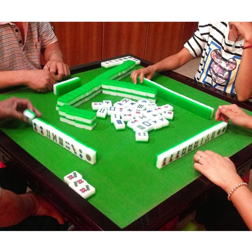 Mark Tiles Simple Green Vari Cenone di Giochi 144 Fogli Color : Green, Size : 48mm con Box in Alluminio Mahjong Piastrelle