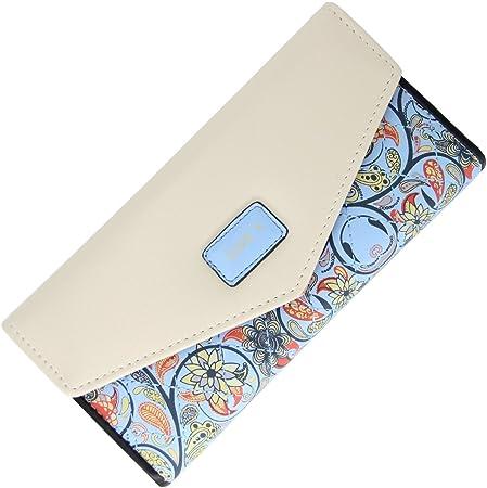 Damen Brieftasche Geldbörse Portemonnaie Geldbeutel Börse Portmonee Canvas Mix
