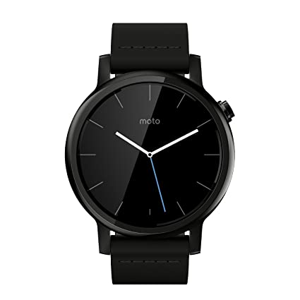 Motorola Moto 360 2nd Gen. Mens 42mm Smartwatch, Black with Black Leather