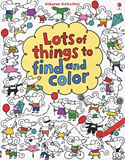 lots of things to find and color usborne activities - Usborne Coloring Books