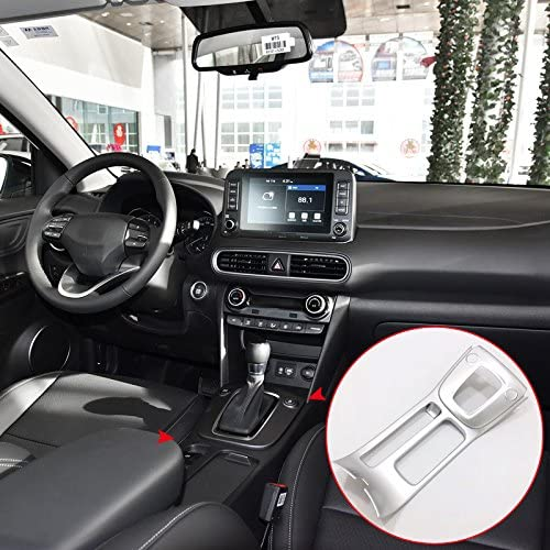 ABS Interior Accessories Car Gear Position Panel Decorative Cover Trim 1PCS for Hyundai Kona 2017 2018 2019 Only for Left Handle Drive