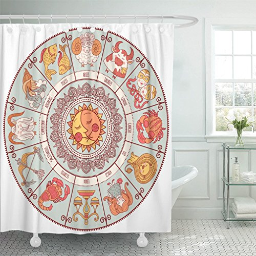"Emvency 66""x72"" Shower Curtain Waterproof Home Decor"