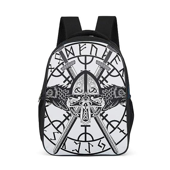 Mochila Escolar para niños y niñas, con diseño de runas vikingas ...