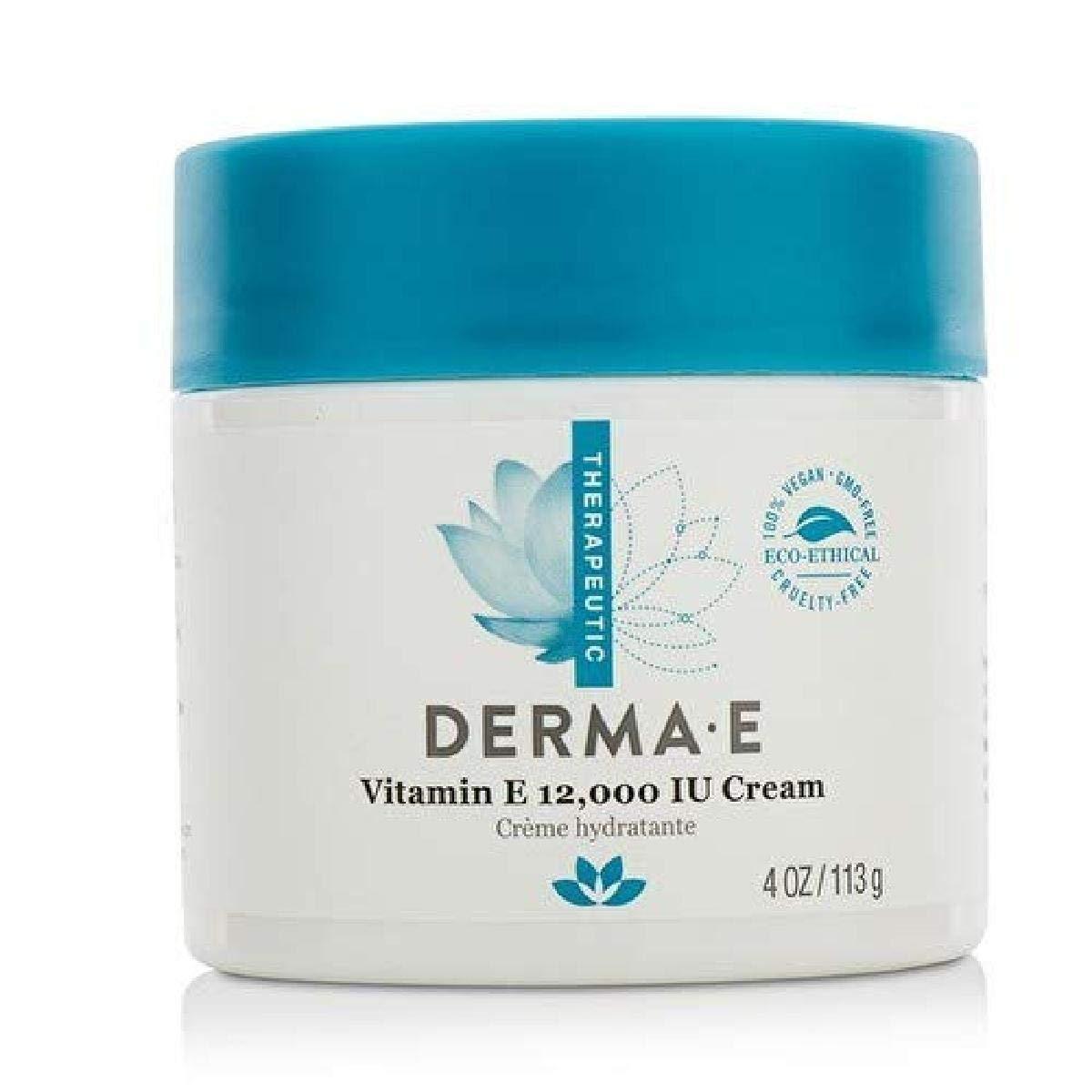 DERMA-E Vitamin E 12, 000 IU Moisturize Cream 4oz : Super Vitamin E : Beauty