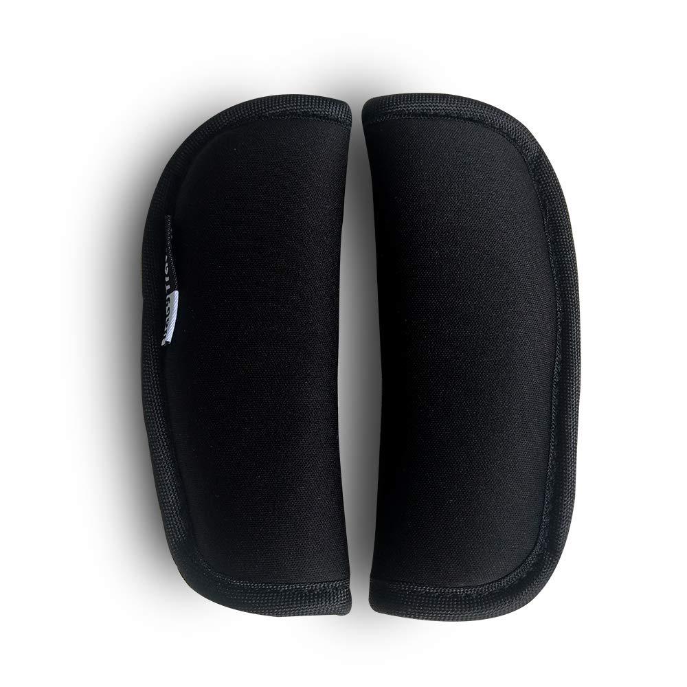 2 pi/èces b/éb/é poussette sangle de si/ège de voiture couvre universelle coussin de ceinture de si/ège souple pour nouveau-n/és nourrissons et enfants Noir