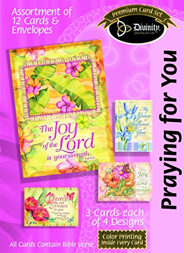 Divinity Boutique Greeting Card Assortment: Praying for You, Flowers and Verse with Scripture (21715N)