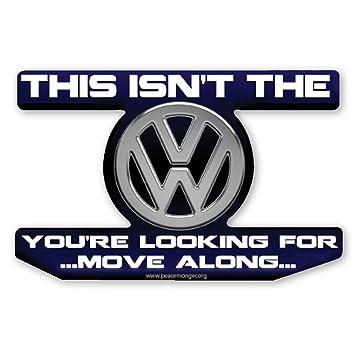 Vw volkswagen star wars jedi parody sticker magnet
