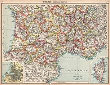 Frankreich Departements Karte.Frankreich South Zeigen Departements Rundum Marseille Korsika
